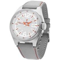 Reloj de pulsera con correa de piel de colores personalizado gris