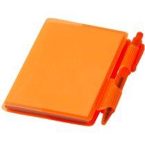 Cuaderno con bolígrafo mini barato naranja transparente