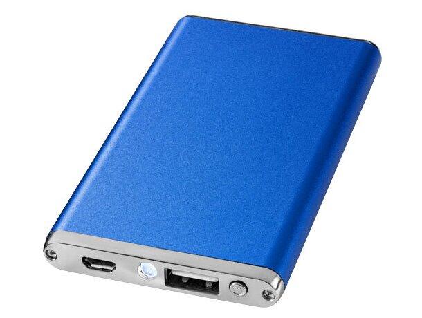 Batería portátil de 2200mah en aluminio personalizada azul medio