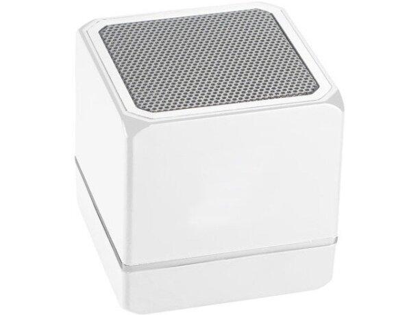 Altavoz en forma cuadrada de plástico personalizado blanco