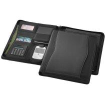 CENTRIXX Portafolio A4 c/cremallera Wave personalizado negro intenso