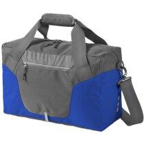 Bolsa de viaje bicolor de gran resistencia personalizada gris