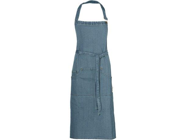 delantal unisex con botones y bolsillos de la marca Jamie Oliver personalizado azul medio
