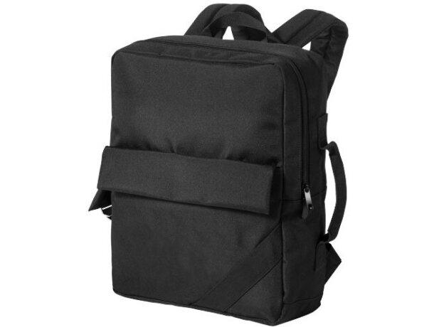 Mochila para portátil con funda para tablet personalizada negro intenso