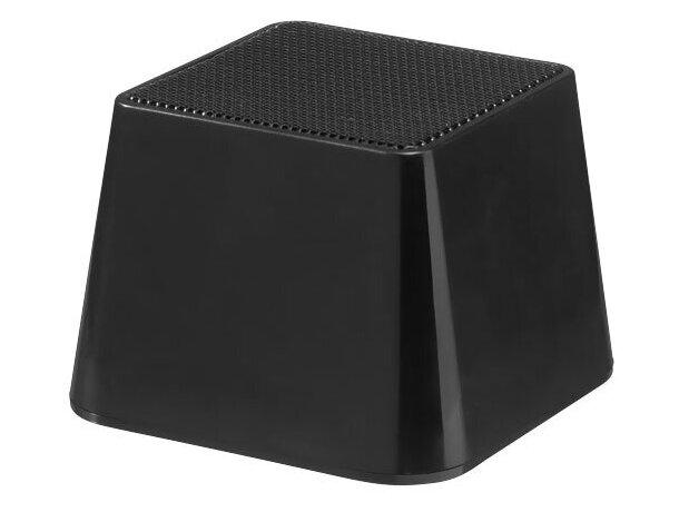 Altavoz portátil recargable personalizado negro intenso