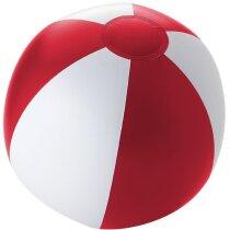 Pelota de playa opaca de pvc personalizada roja