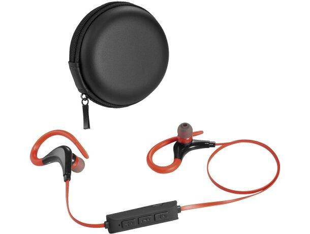 Cascos auriculares sin cables ergonómicos personalizado negro intenso