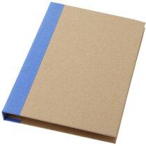 Carpeta con bloc de notas A5 azul