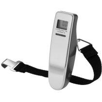Báscula digital para maletas personalizada plata
