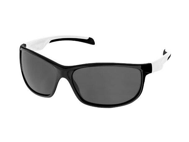 Gafas de sol con patillas de colores personalizada negro intenso