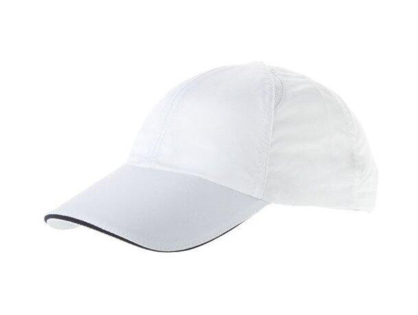 Gorra cool fit con 6 paneles, especial para bordado personalizada blanca