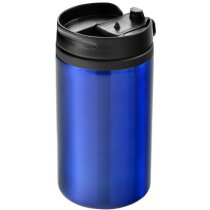 Vaso de plástico y acero isotérmico personalizado azul