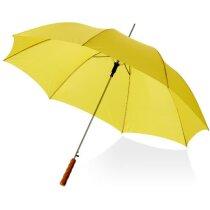 """Paraguas mango recto y automático de 23"""" con logo amarillo"""
