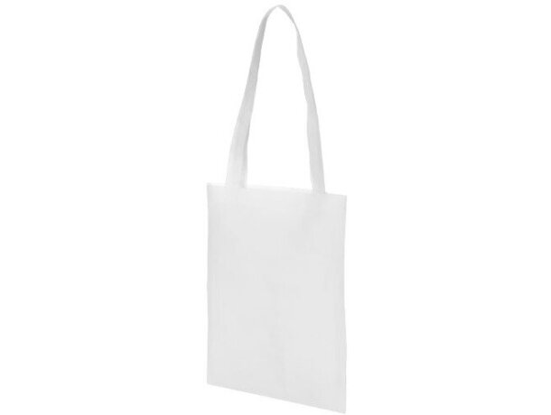 Bolsa de feria con asas largas blanca