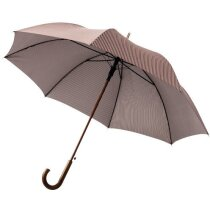 """Paraguas automático de 27""""y mango curvo personalizado marrón"""