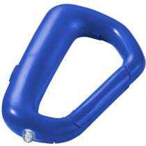 Llavero mosquetón con linterna incluida personalizada azul medio