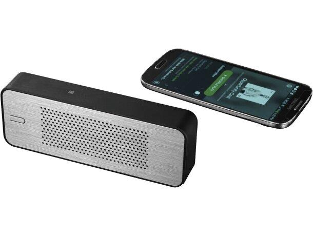 Altavoz con batería externa de 4400 mah y micrófono personalizada negro intenso
