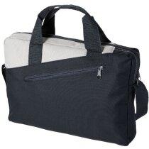 Bolsa maletín de congresos con doble asa personalizada gris oscuro