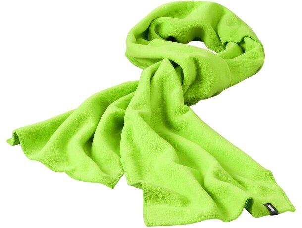 Bufanda polar de colores verde personalizado