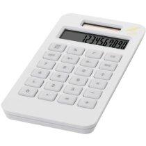Calculadora de plástico reciclado personalizada blanca