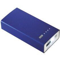 Cargador  de metal de 4000 personalizado azul medio