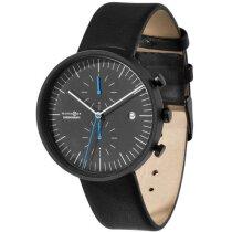 Reloj De Pulsera Con Cronografo Personalizado Negro Intenso