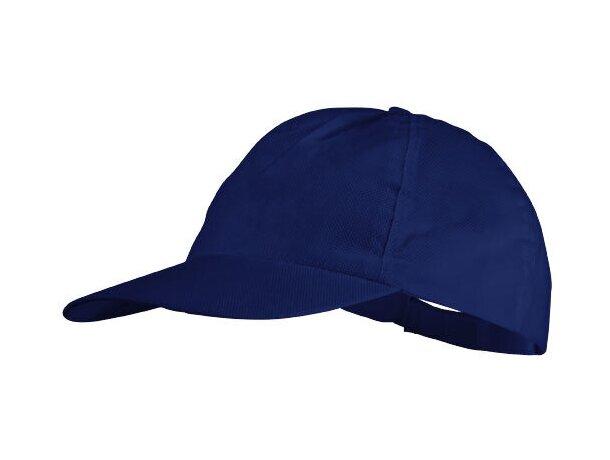 Gorra fabricada en no tejido con 5 paneles personalizada azul medio
