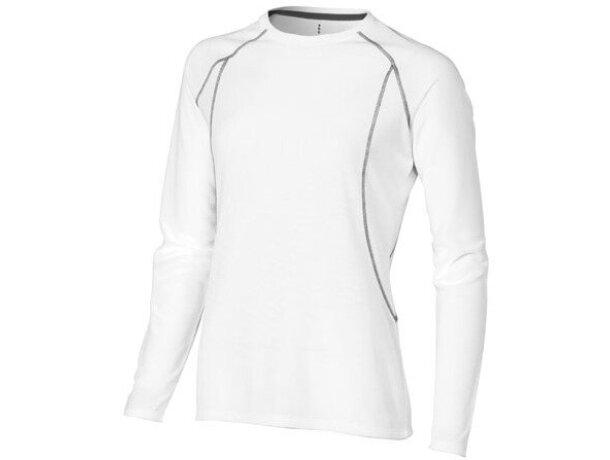 """Camiseta de manga larga mujer """"whistler"""" blanca"""