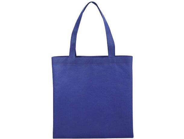 Bolsa de no tejido para convenciones o compras azul medio