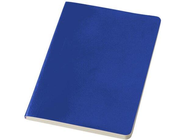 Libreta A5 con 80 hojas sencilla personalizada azul medio