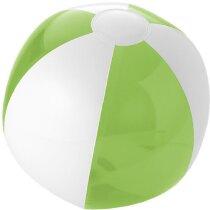 Pelota de playa combinado blanco y color transparente verde claro