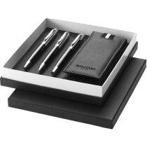 Caja de 3 piezas con funda de la marca Balmain personalizada negro intenso