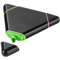 Subrayador con forma de triángulo y tres colores