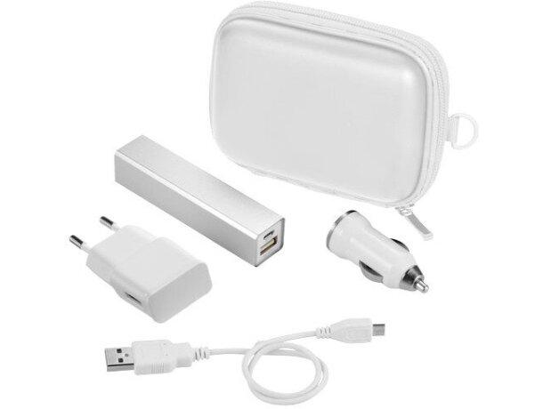 Kit de batería externa de 2200 mah personalizada blanca