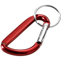 Llavero sencillo con mosquetón de aluminio personalizada roja