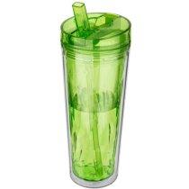 """Vaso Geométrico Isotérmico Hot & Cold """"flip & Sip"""" verde claro"""