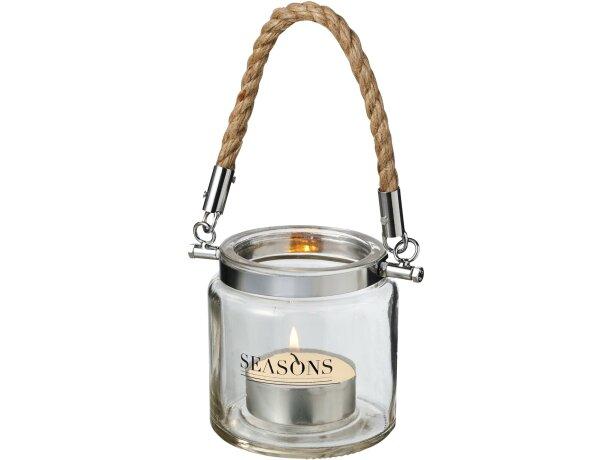 Lámpara de vela personalizada transparente