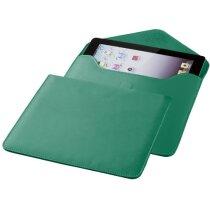 Funda en polipiel con cierre magnético para tablet verde personalizado