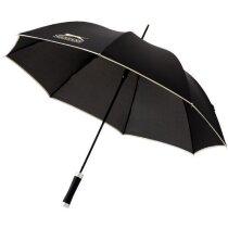 Paraguas diseño elegante automático personalizado negro intenso