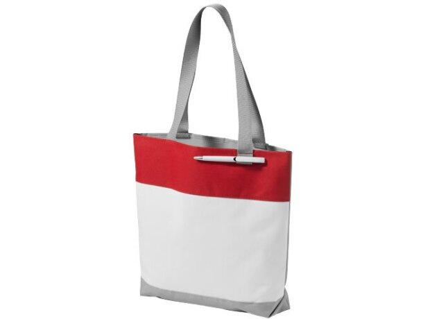 Bolsa con bucle delantero para bolígrafo blanca