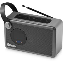 Radio despertador con altavoz bluetooth