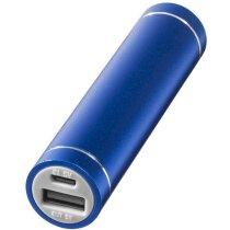 Bateria Externa 2200Mah De Aluminio Personalizada Azul Medio