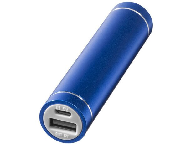 Batería externa 2200mah de aluminio personalizada azul medio