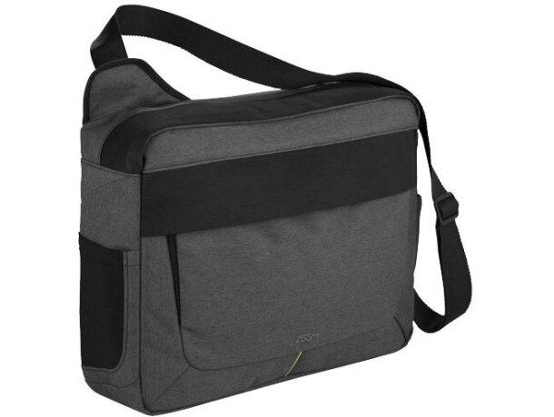 """Bolsa bandolera elegante para portátil de 17"""" personalizada gris"""