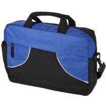 Bolsa maletín de congresos de colores combinados personalizada negro intenso