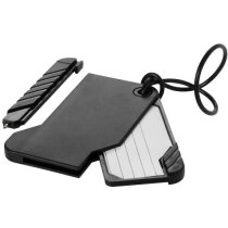 Etiqueta deslizante para equipaje con bolígrafo negro intenso