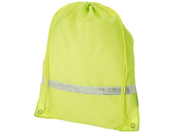 Mochila saco con banda reflectante economica
