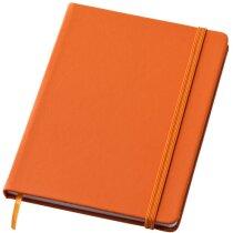 Bloc de notas tamaño A6 en colores naranja