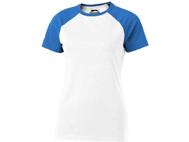 Camiseta manga corta de mujer combinada blanca