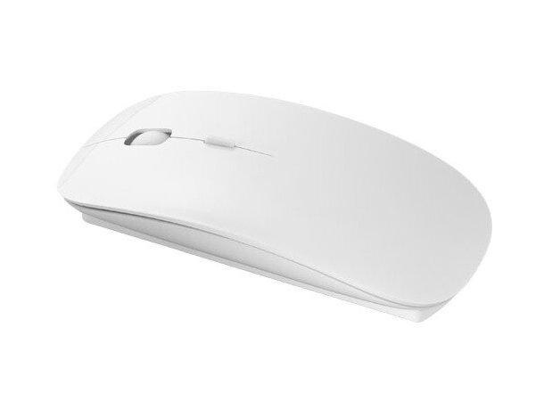Ratón inalámbrico a pilas personalizado blanco